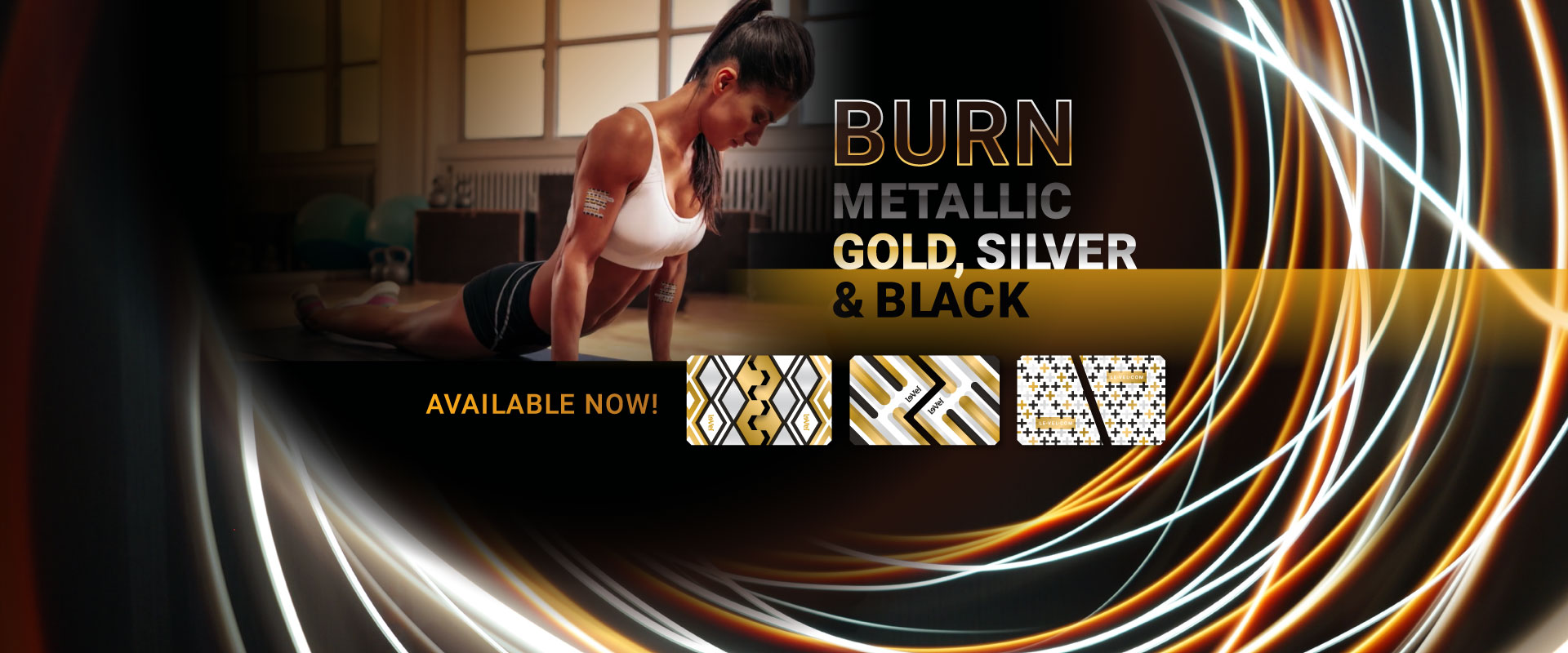 BURN: Metallic Gold Silver Black