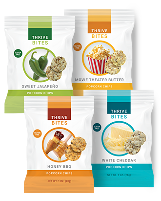 Thrive Bites Popcorn Chips Le Vel
