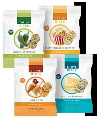 Thrive Bites Popcorn Chips Le Vel